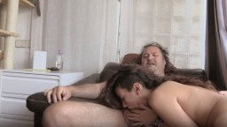 Spanish chick has sex with fat old guy