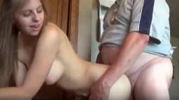 Old man pounding fresh young pussy