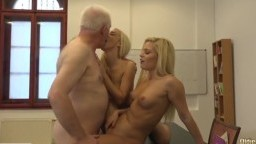 Young blondes pleasure old fuck